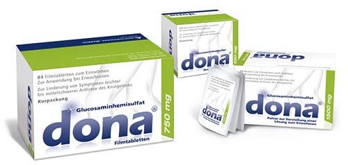 dona® Nahrungsergänzung bei Kniegelenksarthrose